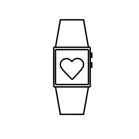 hand touch: smartwatch icon Illustration