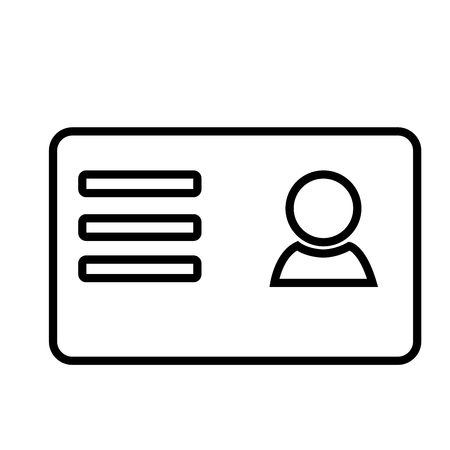 business card icon Illustration