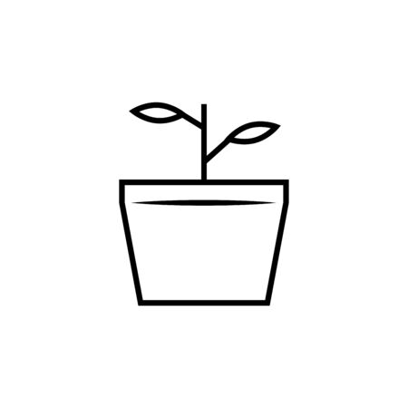 nature plant branch linear icon