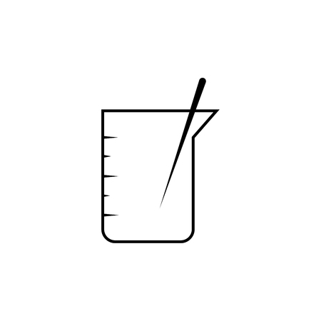 beaker with stick linear icon