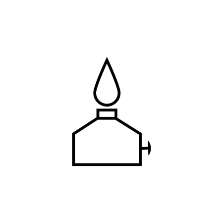 air diffuser: oil burner simple vector icon