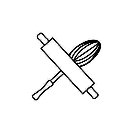 bakery tools icon Illustration