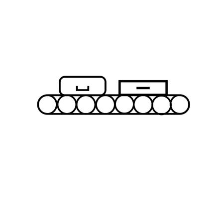 Conveyor icon illustration. Illustration