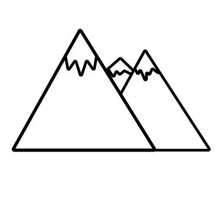 Mountains linear vector simple graphic web icon