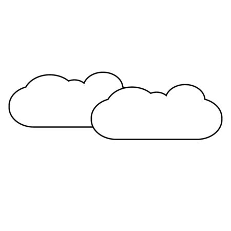 Clouds linear vector simple graphic web icon.