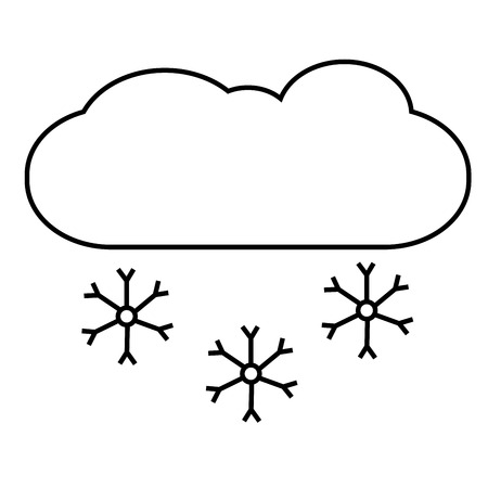 snowing linear vectos simple graphic web icon