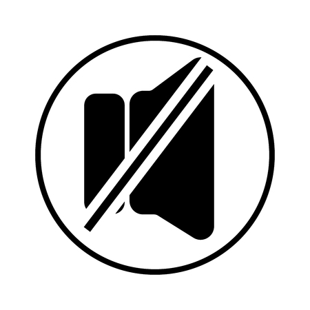 Mute linear vectors simple graphic web icon Illustration