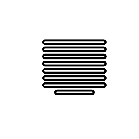 centered justification linear vectos simple graphic web icon