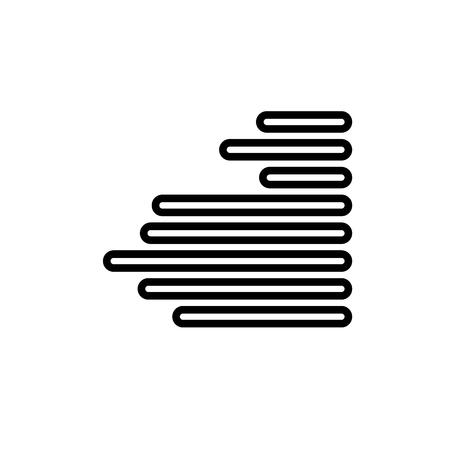Right alignment linear vectors simple graphic web icon.