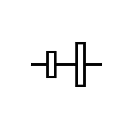 Right align linear vector simple graphic web icon. Illustration