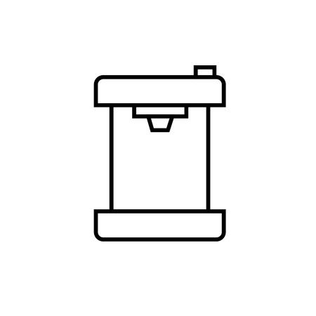 cofee machine linear vectos simple graphic web icon