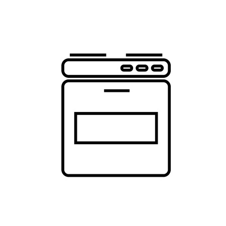 oven linear vectos simple graphic web icon
