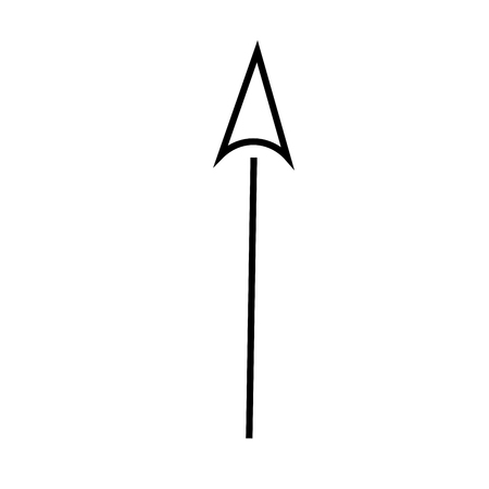 Up arrow linear simple graphic web icon.