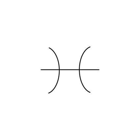 Pisces linear simple graphic web icon.
