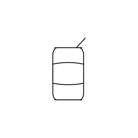 coke simple line vector web graphic icon Çizim