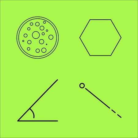 Educación lineal conjunto de iconos del vector del esquema Foto de archivo - 94136087