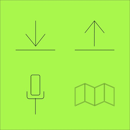Web linear outline vector icon set Illustration
