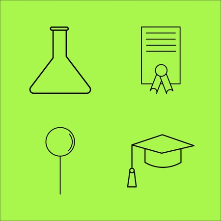 Education linear outline vector icon set