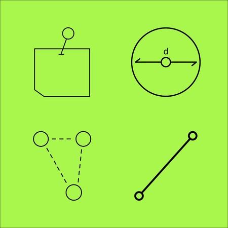 教育線形アウトラインベクトルアイコンセット