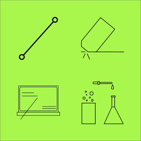 Education linear outline vector icon set.