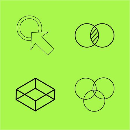 Design Elements simple linear outline vector icon set.
