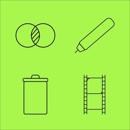 Design-Elemente einfache lineare Umriss Vektor-Symbol Set Standard-Bild - 94078094