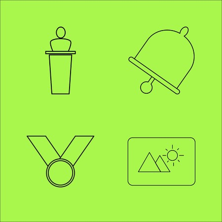 Basic Content simple linear outline vector icon set.