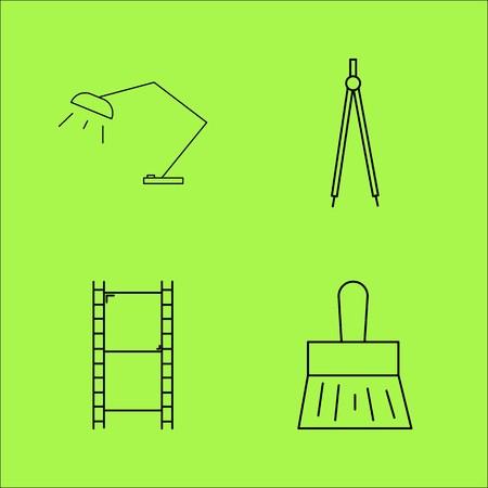 Design Elements simple linear outline vector icon set.