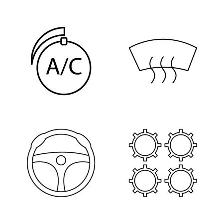 Transport And Transportation linear icon set