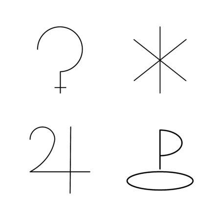 Astrology linear icon set Illustration