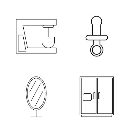 Home Appliances linear icon set Stok Fotoğraf - 94314714