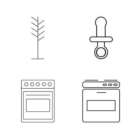 Home Appliances linear icon set Stok Fotoğraf - 94268816