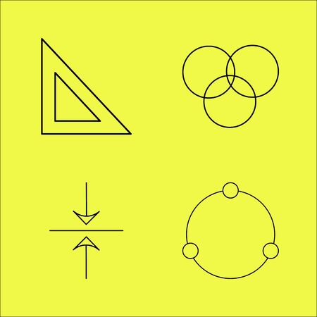 Essential linear icon set
