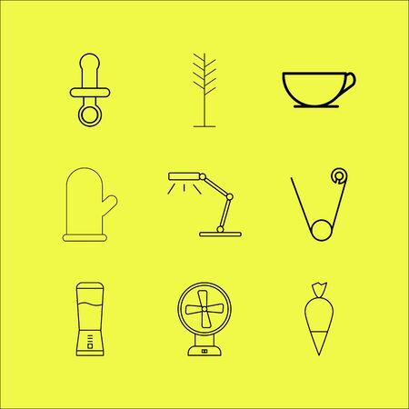 Home appliances linear icon set. Stok Fotoğraf - 94315343