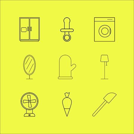 Home appliances linear icon set. Stok Fotoğraf - 94318740