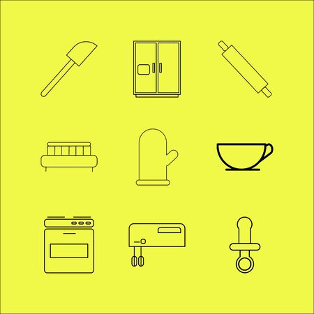 Home appliances linear icon set. Stok Fotoğraf - 94317077