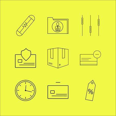 Zakelijke lineaire icon set. Eenvoudige overzichtspictogrammen Stock Illustratie