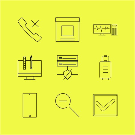 Business linear icon set. Simple outline icons  イラスト・ベクター素材