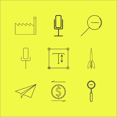 Web linear icon set. Simple outline icons