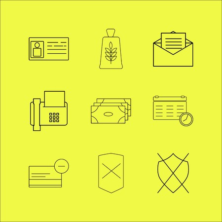 Business linear icon set. Simple outline icons Banque d'images - 94528961