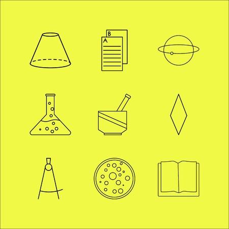 Conjunto de ícones linear de ciência. Ícones de contorno simples Foto de archivo - 94526958