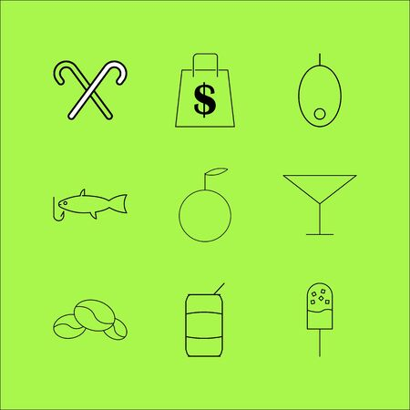 Food And Drink linear icon set. Simple outline icons 向量圖像