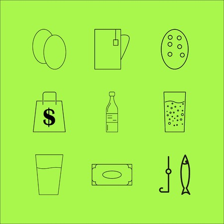 Food And Drink linear icon set. Simple outline icons Ilustrace