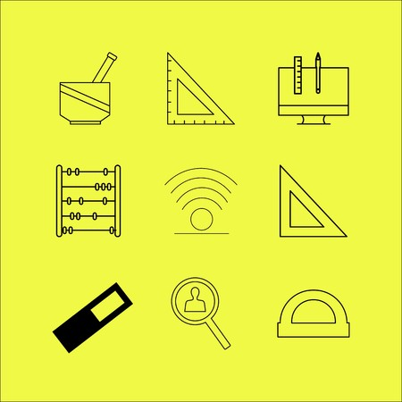 Education linear icon set. Simple outline icons Ilustracja