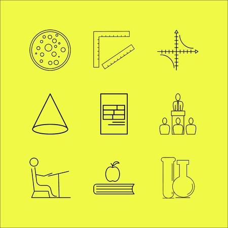 Conjunto de ícones linear de educação. Ícones de contorno simples Foto de archivo - 94707059