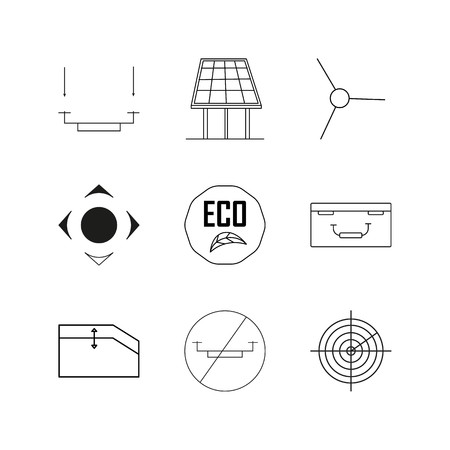 Technology linear icon set. Simple outline icons