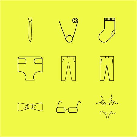 Dress And Clothes linear icon set. Simple outline icons