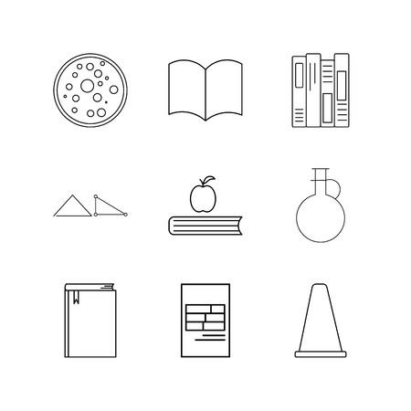 Conjunto de ícones linear de ciência. Ícones de contorno simples Foto de archivo - 94899737
