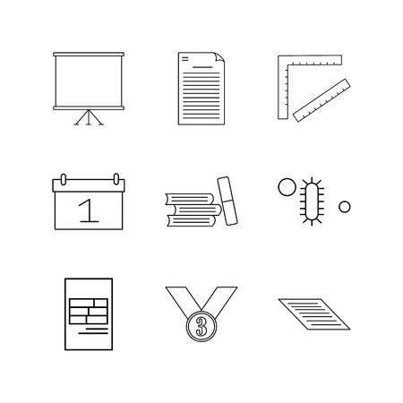 Education linear icon set. Simple outline icons Ilustração