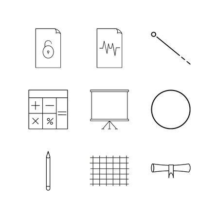 Education linear icon set. Simple outline icons Illustration